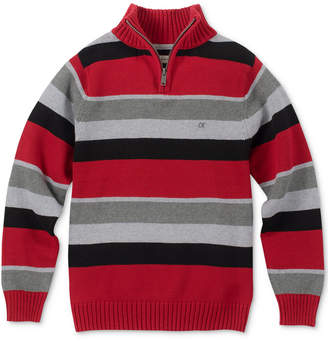 Calvin Klein Big Boys Phoenix Stripe Quarter-Zip Sweater