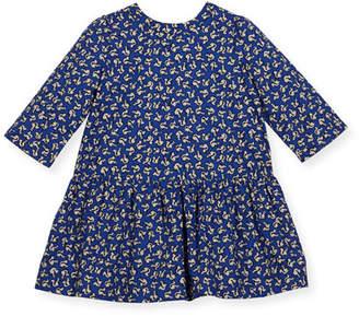 Bonpoint Long-Sleeve Squirrel-Print Dress