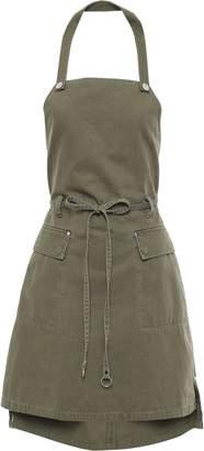 Alexander Wang Ring-embellished Cotton-gabardine Mini Dress