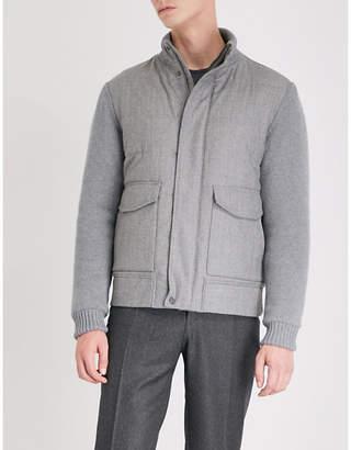 Canali Contrast-sleeve shell jacket
