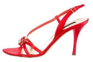 Sergio Rossi Satin Slingback Sandals