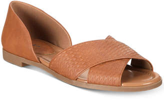 Style&Co. Style & Co Tyyler d'Orsay Peep-Toe Flats, Created for Macy's Women's Shoes
