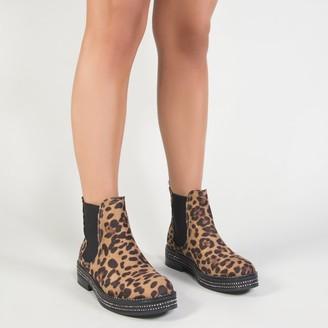 Public Desire Glare Chelsea Boots Print