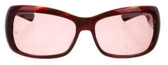 Giorgio Armani Rectangular Tinted Sunglasses Purple Rectangular Tinted Sunglasses