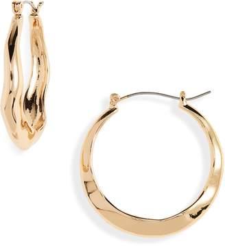 Treasure & Bond Wavy Hoop Earrings