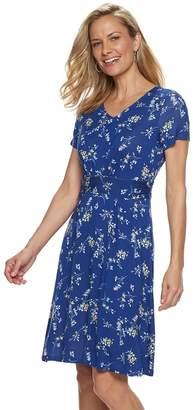 Croft & Barrow Women's V-Neck Swing Dress