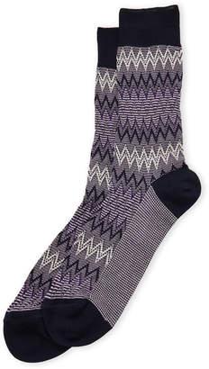 Missoni Striped Zigzag Crew Socks