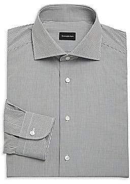 Ermenegildo Zegna Men's Mini Check Dress Shirt