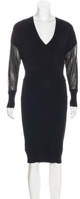 Tom Ford V-Neck Midi Dress