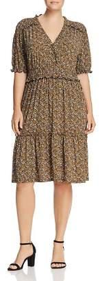 MICHAEL Michael Kors Floral Ruffle Trim Dress