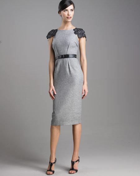 Jason Wu Beaded-Sleeve Sheath Dress