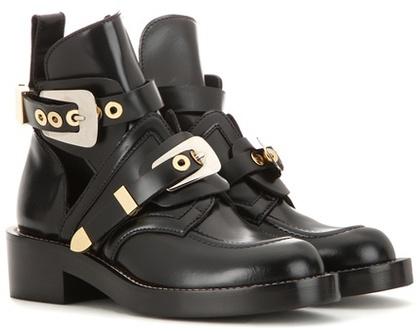 Balenciaga Balenciaga Ceinture leather derby boots