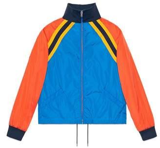 Gucci Nylon jacket with tiger appliqué