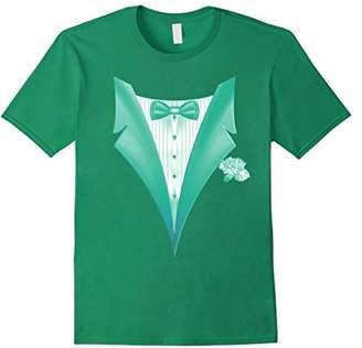 Tuxedo Tee Shirt - Light Green Design