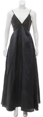 Brunello Cucinelli Monili-Accented Silk Dress