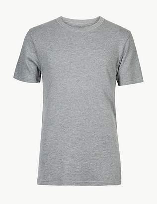 Marks and Spencer Short Sleeve Cotton Blend Thermal Vest