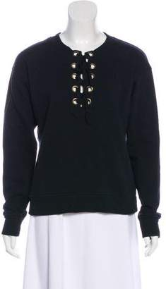 Mother Lace-up Long Sleeve Sweatshirt