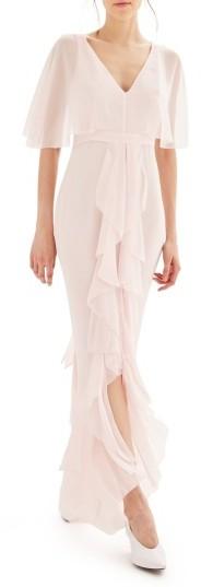 TopshopWomen's Topshop Bride Cascade Gown