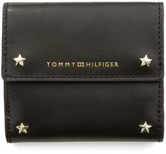 Tommy Hilfiger Leather Star-Studded Wallet
