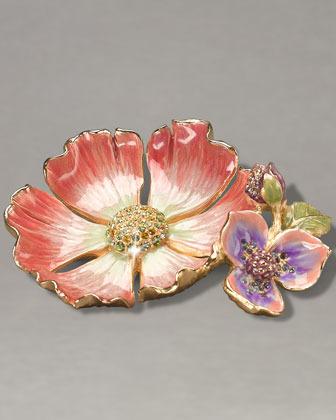 "Jay Strongwater Maya"" Flower Trinket Tray"