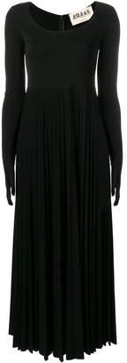 Awake gloved pleated dress