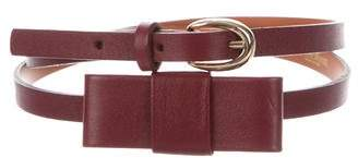 MAISON BOINET Leather Bow Belt