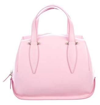 DELPOZO Leather Dome Satchel