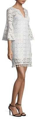 Trina Turk Loomis Lace Bell-Sleeve Shift Dress