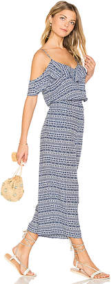Seafolly Jacquard Jumpsuit in Blue $182 thestylecure.com