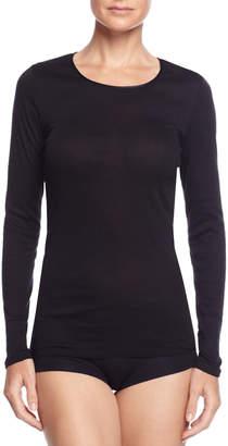 Hanro Cotton Seamless Long-Sleeve Top