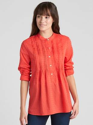 Gap Popover Pintuck Shirt in Swiss Dot