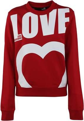 Love Moschino Moschino Logo Print Sweatshirt