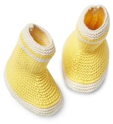 Textured Knit Rain Boot