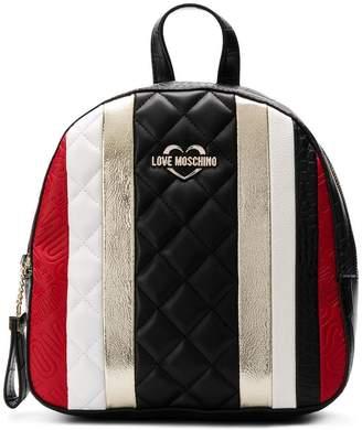 Love Moschino striped mini backpack