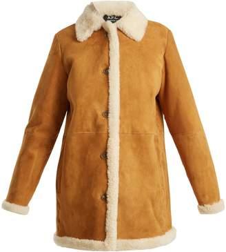 A.P.C. Natalya point-collar shearling coat