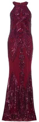 Dorothy Perkins Womens *Quiz Berry Sequin Fishtail Maxi Dress