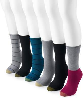 Gold Toe Women's GOLDTOE 6-Pack Casual Ultra Soft Crew Socks