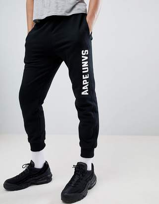 A Bathing Ape AAPE BY AAPE By joggers with logo in black