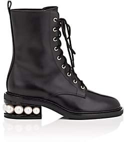 Nicholas Kirkwood Women's Casati Leather Combat Boots - Black