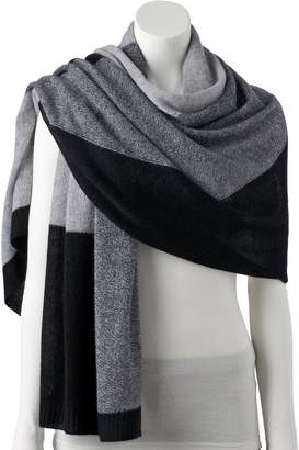 Apt. 9 Women's Colorblock Cashmere Oversized Wrap Scarf