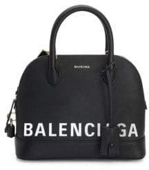 Balenciaga Ville Top Handle Logo Bag