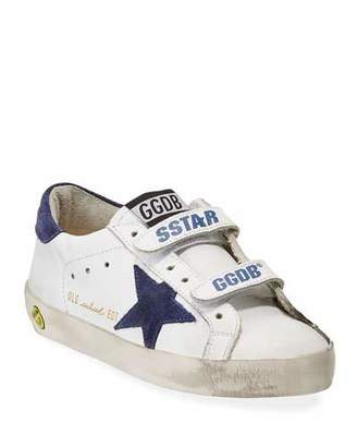 Golden Goose Old School Leather Sneakers, Baby