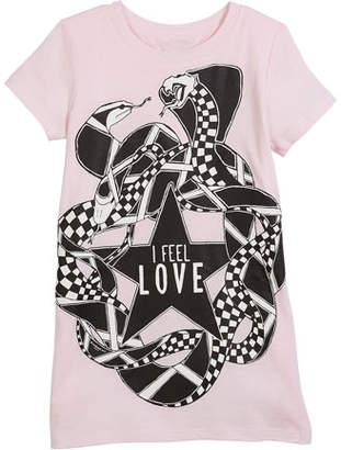 Givenchy I Feel Love Snakes Jersey Shirt Dress, Size 6-10