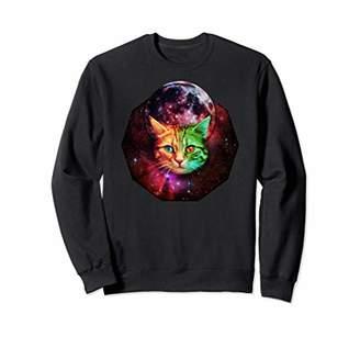 Space Kitty Cat Sweatshirt Galaxy Universe Moon 3D Funny
