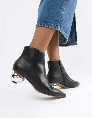 Asos DESIGN Remix ball heel boots