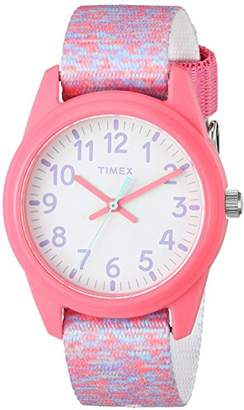 Timex Girls TW7C12300 Time Machines Elastic Fabric Strap Watch