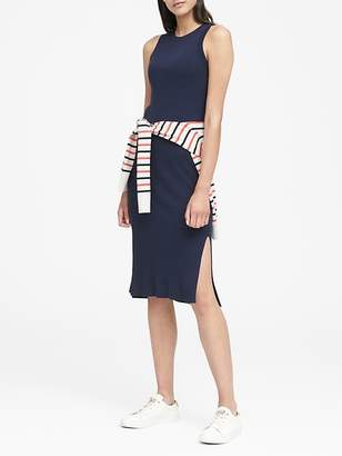 Banana Republic Ribbed-Knit Sheath Dress