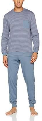 Eminence Men's Pyjama Sets, Grey (Haut Rayure Blanche BAS UNI GRIS 1422), (Size: 4)