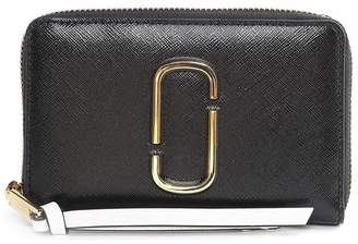 Marc Jacobs Snapshot Color-block Saffiano-leather Compact Wallet