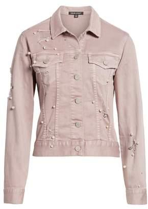 DEAR JOHN DENIM Alissa Embellished Colored Denim Jacket